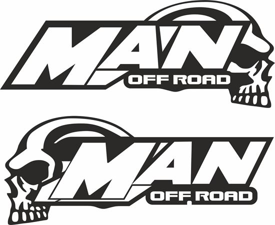 "Picture of MAN TGS ""MAN Off Road"" Glass / Panel  Decals / Stickers"