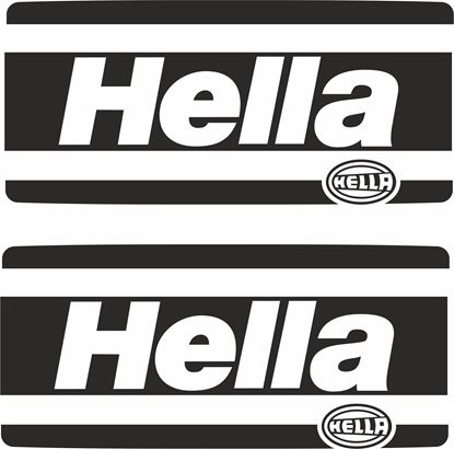 Picture of Hella Spot Light Cover Decals / Stickers