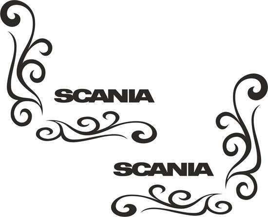 Picture of Scania  corner glass Decals / Stickers