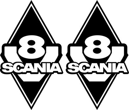 "Picture of ""V8 Scania""  Panel Decals / Stickers"