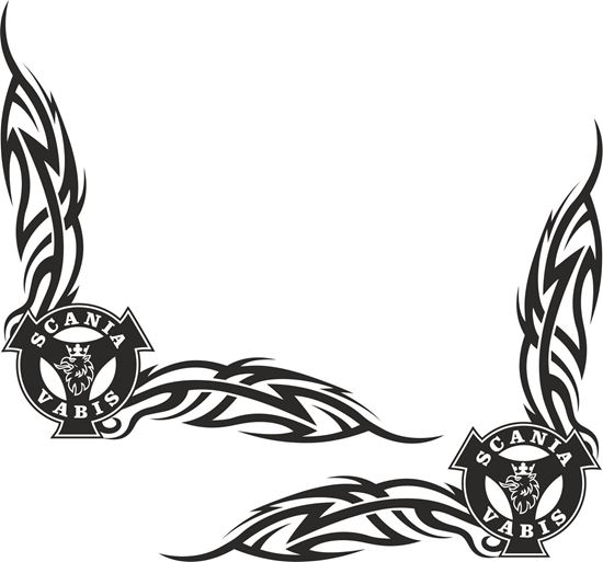 Picture of Scania Vabis Griffin corner glass Decals / Stickers