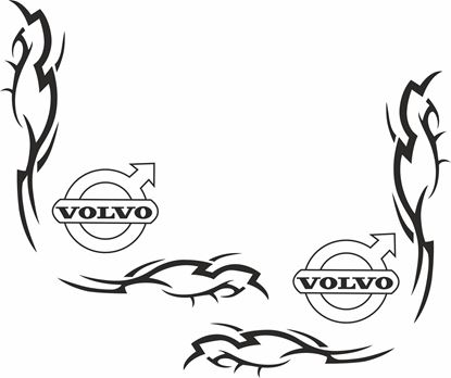 Picture of Volvo corner Glass Decals / Stickers