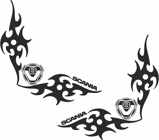 Picture of Scania  V8 corner glass Decals / Stickers