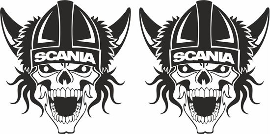 Picture of Scania Viking Skull general panel / glass  Decals / Stickers