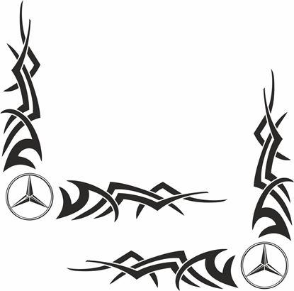 Picture of Mercedes Truck / Van corner glass Decals / Stickers