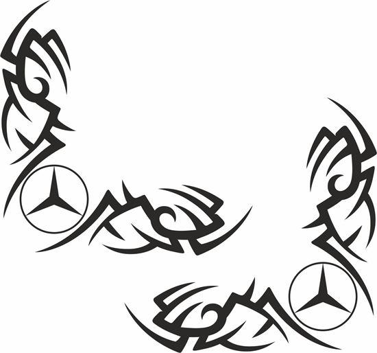 Picture of Mercedes Truck / Van corner glass Decals / Stickers