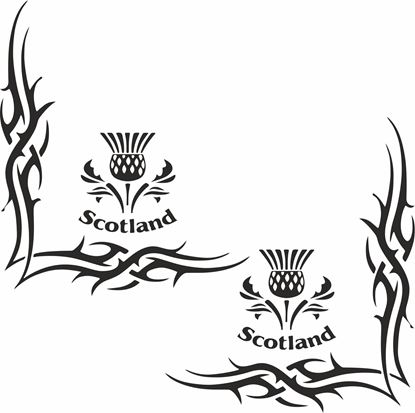 "Picture of ""Scotland"" corner glass Decals / Stickers"