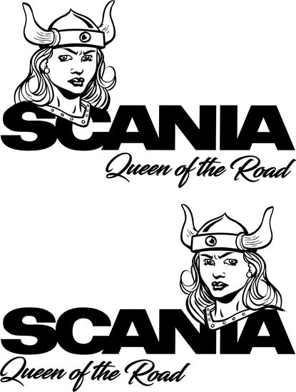 "Picture of ""Scania  Queen of the Road"" top side / Panel Decals / Sticker"