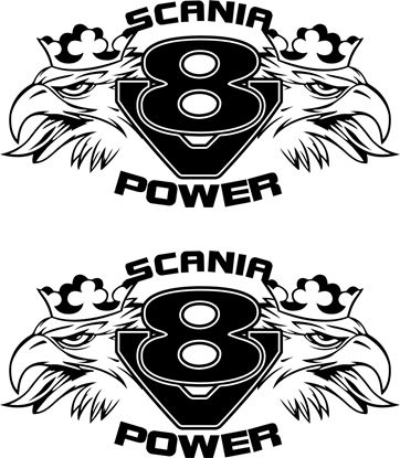 "Picture of ""Scania V8 Power"" large Panel Decals / Stickers"