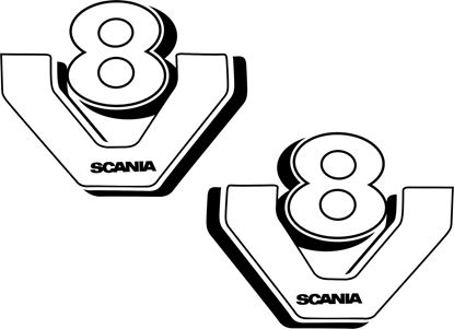 "Picture of Scania ""Scania V8""  Panel Decals / Stickers"