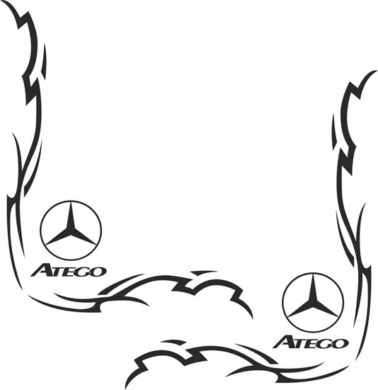 Picture of Mercedes Atego corner glass Decals / Stickers