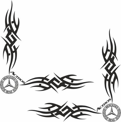 Picture of Mercedes Actros glass Decals / Stickers