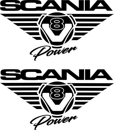 "Picture of ""Scania V8 Power"" Glass / Panel Decals / Stickers"