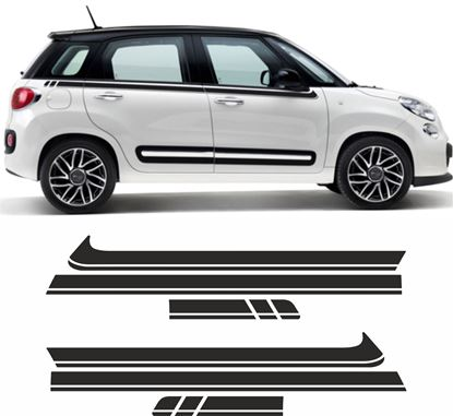 Picture of Fiat 500L side Stripes / Stickers EXACT FIT