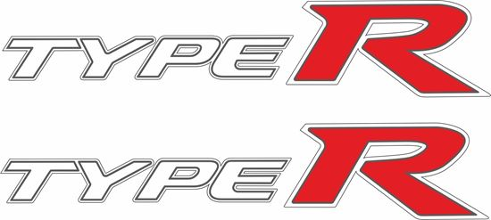 Picture of Honda Civic FD2 Type R replacement side Decals / Stickers