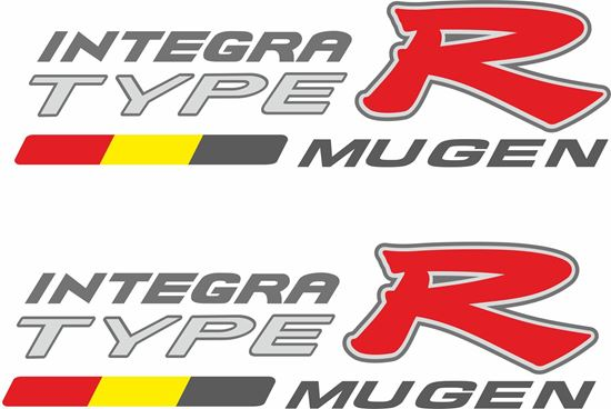 Picture of Honda Integra Type R DC5 Mugen side Decals / Stickers