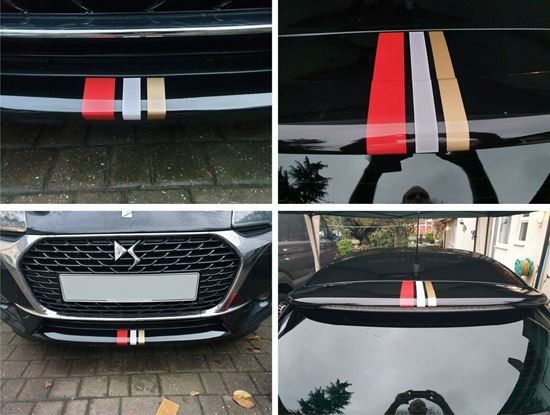 Picture of DS3 DS Performance Line Spoiler  & Bumper vinyl Stripes Decals / Stickers
