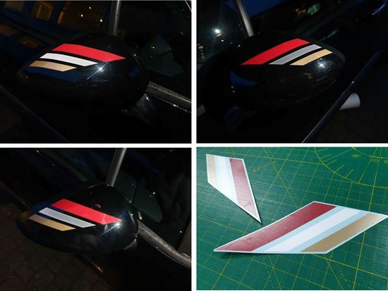 Picture of DS3 DS Performance Line Mirror Trim vinyl Stripes Decals / Stickers