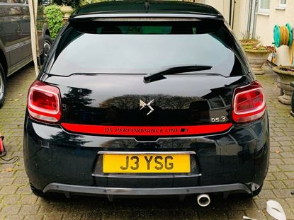 """Picture of DS3 """"DS Performance Line"""" rear Hatch / Sticker / Decal"""