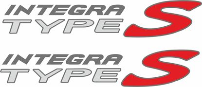 Picture of Honda Integra / Acura Type S DC5 replacement side Decals / Stickers