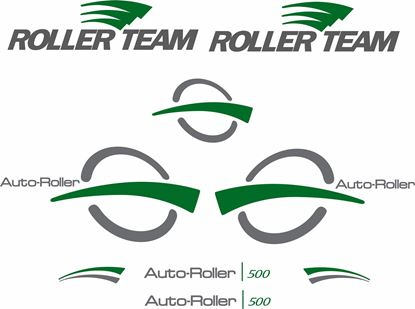 "Picture of ""Roller Team""  Auto Roller 500 replacement Decals / Stickers Kit"