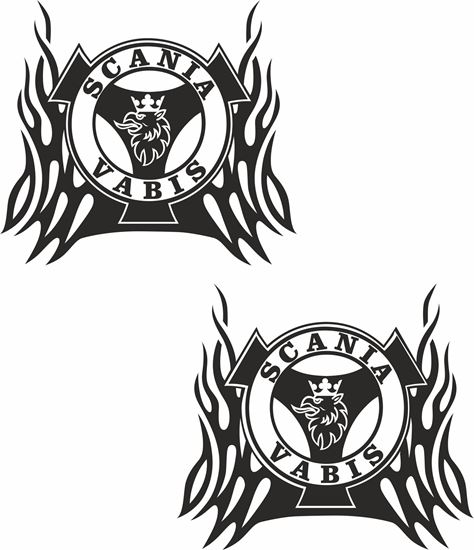 """Picture of """"Scania Vabis """" Panel  Decals / Stickers"""