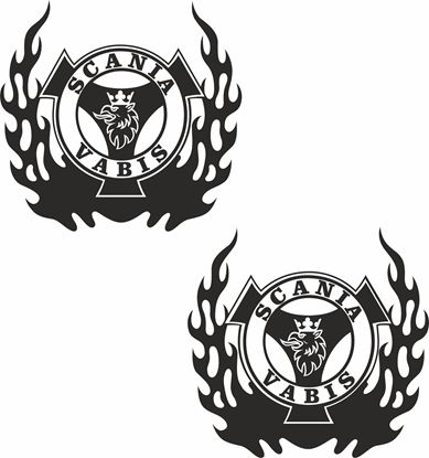 "Picture of ""Scania Vabis "" Panel  Decals / Stickers"