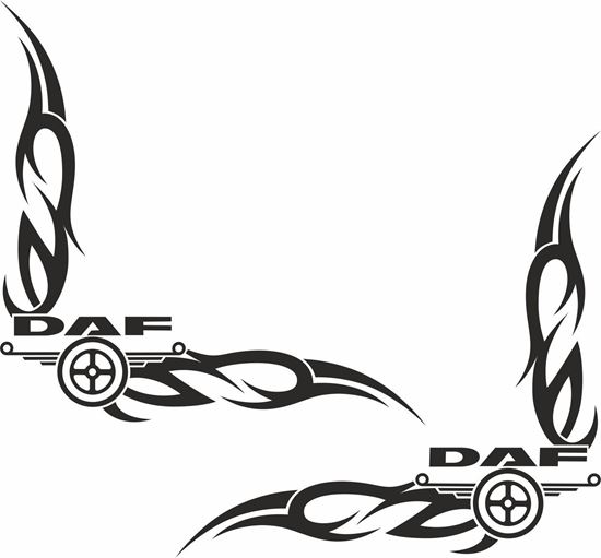 Picture of DAF corner glass Decals / Stickers