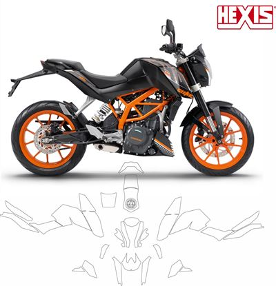 Picture of KTM Duke 390 2013 - 2016  Pre Cut PPF full Kit