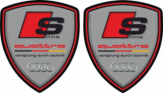 Picture of Audi S Line Quattro Wing / Panel Decals / Stickers
