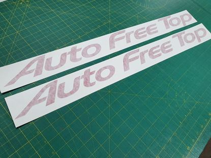 Picture of Mazda Friendee Bongo Auto Free Top replacement top side Decals / Stickers