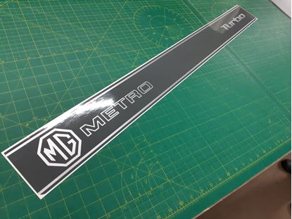 """Picture of MG Metro replacement rear hatch """" MG Metro Turbo"""" Decal / Sticker"""