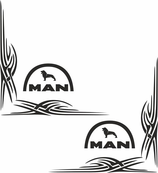 Picture of MAN  corner glass Decals / Stickers
