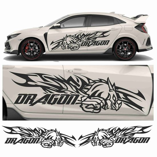 """Picture of JDM side """"Dragon""""  Graphics"""