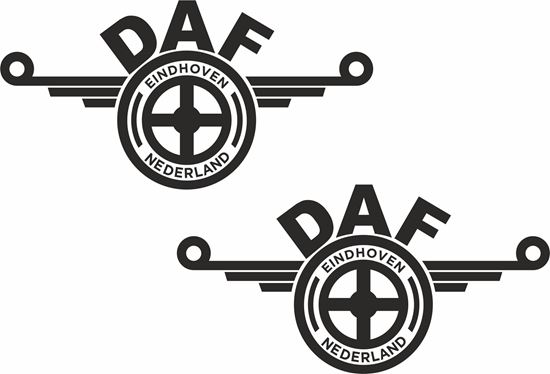 """Picture of DAF  """"Eindhoven Nederland"""" general panel / Glass  Decals / Stickers"""