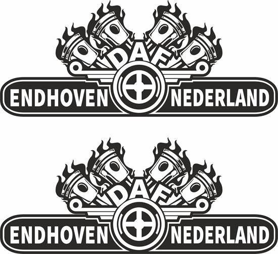 "Picture of DAF  ""Eindhoven Nederland"" general panel Decals / Stickers"