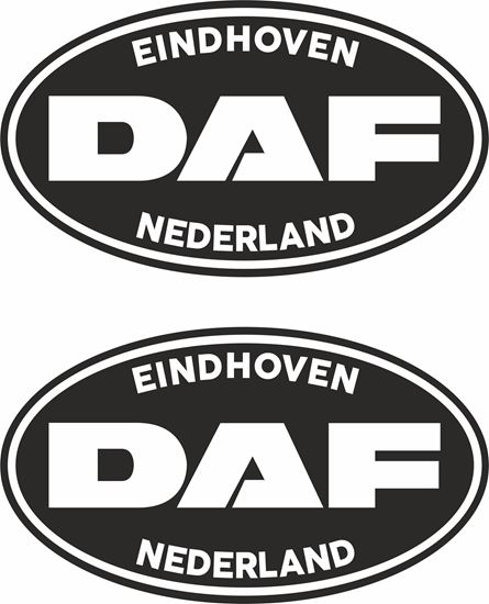 "Picture of DAF  ""Eindhoven Nederland"" general panel / Glass  Decals / Stickers"
