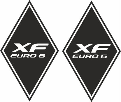 "Picture of DAF ""XF Euro 6"" Diamond front corner panel  Decals / Stickers"