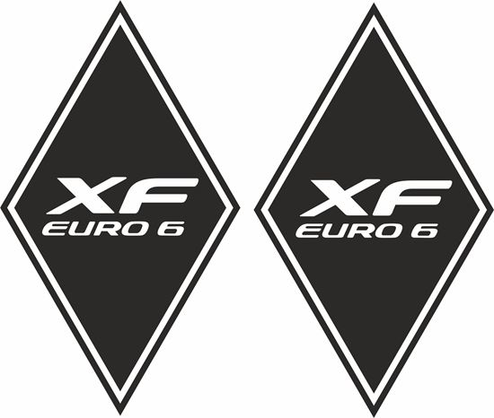 """Picture of DAF """"XF Euro 6"""" Diamond front corner panel  Decals / Stickers"""