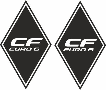 """Picture of DAF """"CF Euro 6"""" Diamond front corner panel  Decals / Stickers"""