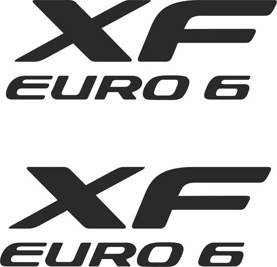 "Picture of DAF ""XF Euro 6"" panel / glass Decals / Stickers"