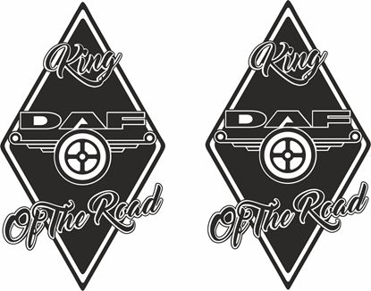 """Picture of """"DAF King of the Road""""  Panel Decals / Stickers"""