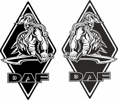 Picture of DAF Viking Diamond front corner panel  Decals / Stickers