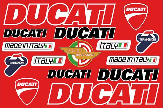 Picture of Ducati Decals / Stickers Sheet