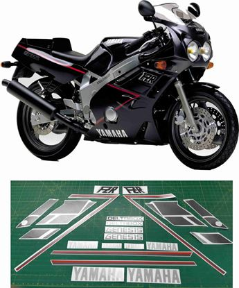 Picture of Yamaha FZR 600 1989 replacement Decals / Stickers