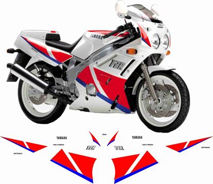 Picture of Yamaha FZR 600 1991 Replacement Decals / Stickers