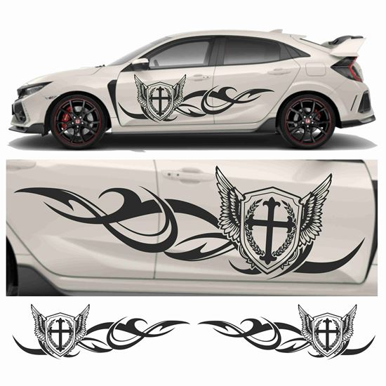 Picture of JDM side Shield tribal Graphics