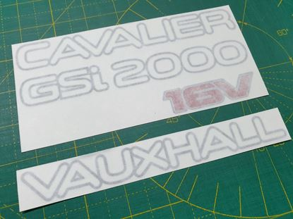 Picture of Vauxhall Cavalier Mk3 GSi 2000 replacement rear Decals / stickers