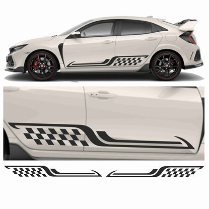 Picture of JDM side chequer Stripe Graphics