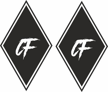 """Picture of DAF """"CF"""" Diamond front corner panel  Decals / Stickers"""